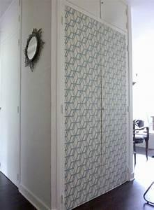 Deco Porte Placard : papier peint pour porte de placard ~ Teatrodelosmanantiales.com Idées de Décoration