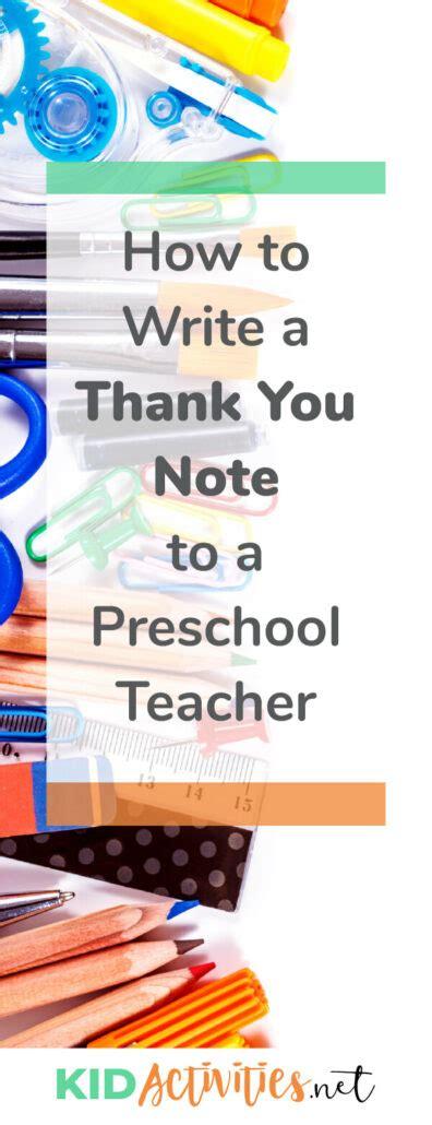 write a thank you note to preschool plus thank 856 | how to write a thank you note to a preschool teacher 396x1030