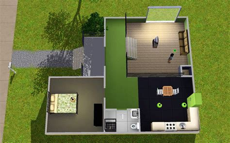 mod  sims colourful split level starter home