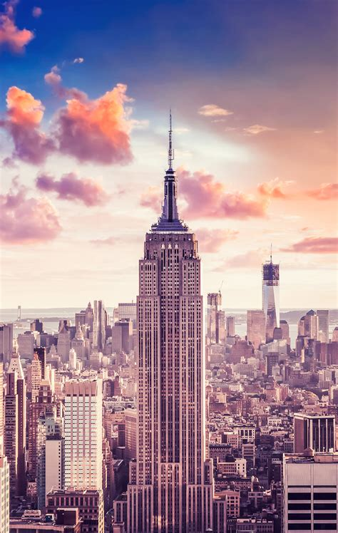 Centerpiece Photo New York Wallpaper Empire State