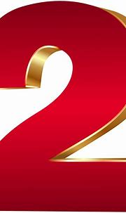 3D Number Two Red Gold PNG Clip Art Image | Gallery ...
