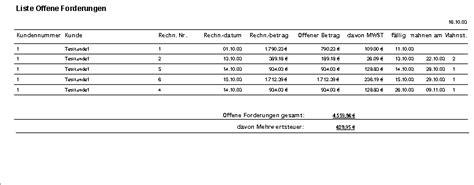 rechnungsprofi offene forderungen offene rechnungen