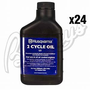 Husqvarna Low Smoke 2 Stroke Engine Oil - Case Of 24- 6 4