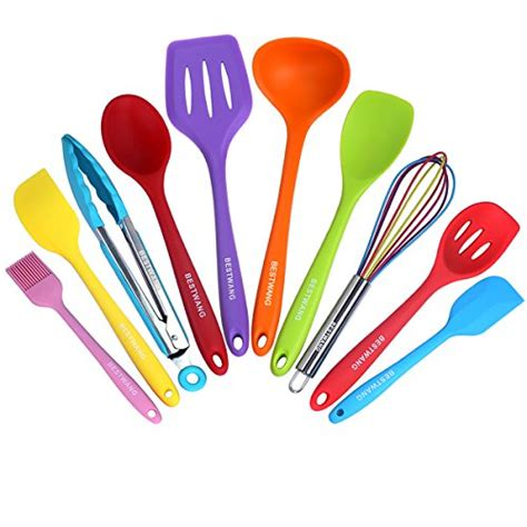 silicone kitchen utensils colorful 10 pieces nonstick