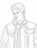 Supernatural Coloring Pages Winchester Dean Printable Castiel Fan Adult Etsy Malbuch Colouring Victorious Colour Journal Sam Sheets Instant Similar Items sketch template