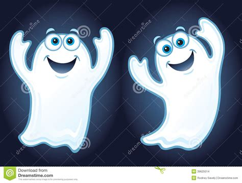 happy smiling ghosts stock illustration image