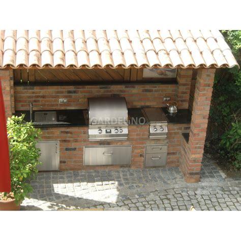 Gasgrill Outdoor Küche by Outdoork 252 Che Aus Backstein Mit Magic Einbau Gasgrill