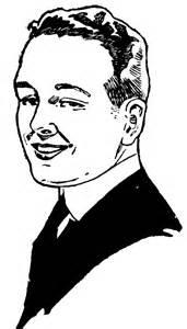 Man Smiling Clip Art Black White