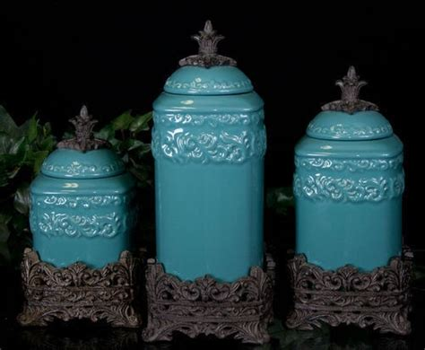 teal kitchen canisters turquoise kitchen canisters for the home