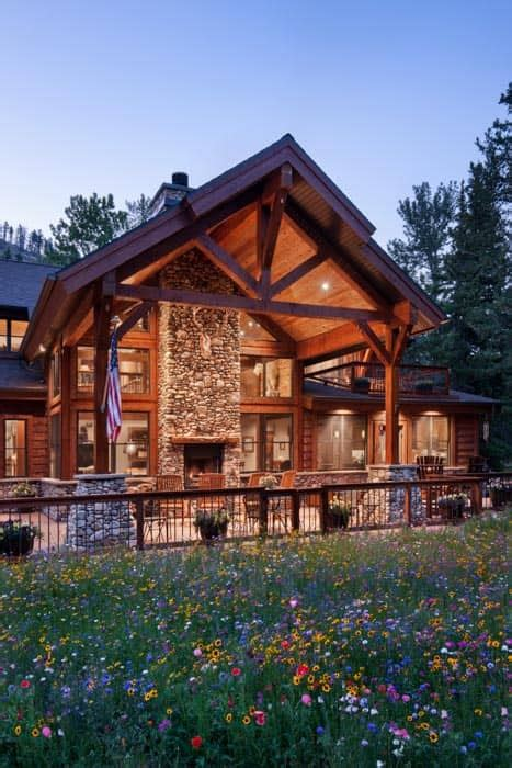 rock creek montana timber frame home precisioncraft
