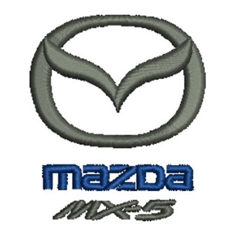 mazda mx 5 logo mazda mx5 13652 stock embroidery designs for home and