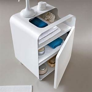 arblu tulip cart on wheels modern bathroom cabinets With bathroom cart on wheels