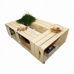 Table Basse Caisse Bois : table basse 6s i kit pr t assembler caisses en bois x6 fabriqu e main en france ~ Nature-et-papiers.com Idées de Décoration