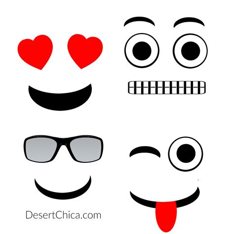 emoji template printable diy emoji oranges desert chica