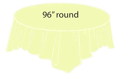 96 inch round table 96 quot round plastic tablecloth ivory