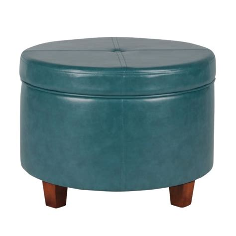 what s an ottoman homepop large faux leather storage ottoman teal