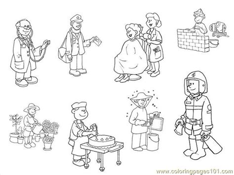 beroep  coloring page  profession coloring pages