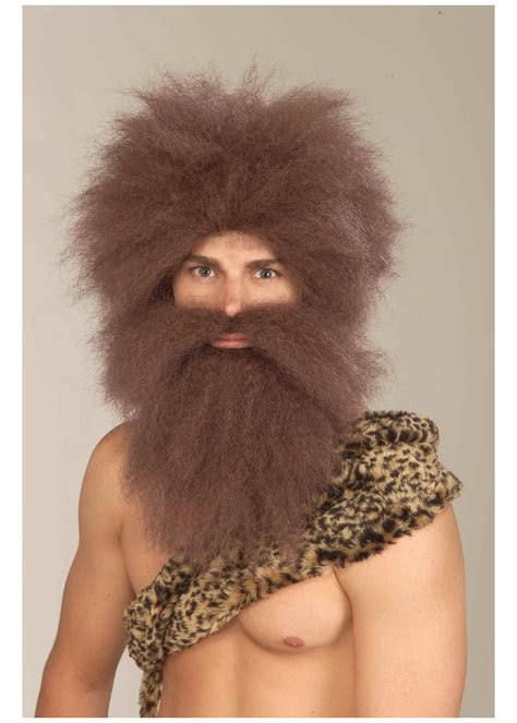 caveman wig  beard costume kit accessories