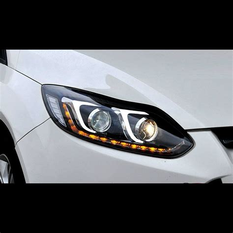 led projector drl xenon hid headlights  ford focus