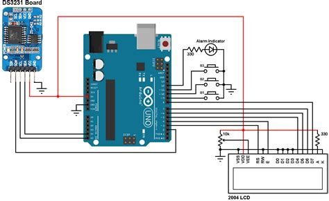 Arduino Real Time Clock With Alarm Temperature Monitor