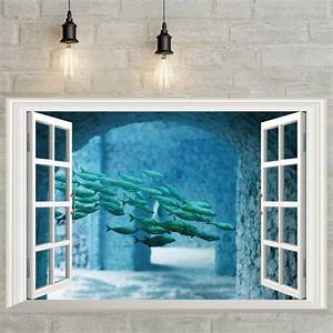 new 2016 brand 3d fake window scenery wall stickers for With faux window wall decal for home