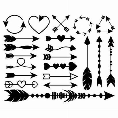 Arrow Svg Arrows Clipart Cricut Printable Silhouette