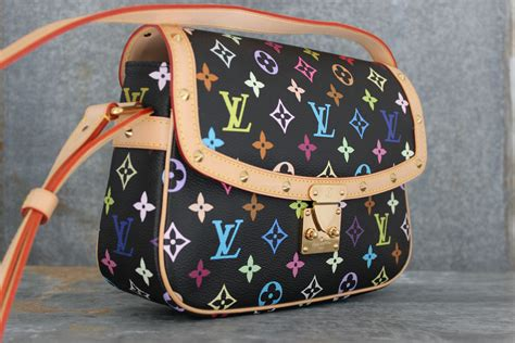 louis vuitton black multicolor sologne shoulder bag