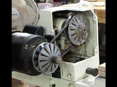jet jwl  lathe speed change pulley repair youtube