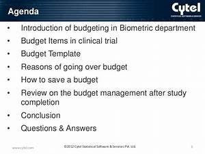 How to keep the project on budget in the clinical trial study for Clinical trial template