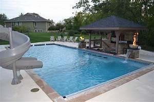Rectangular Pool: Sunken Kitchen Area - Contemporary