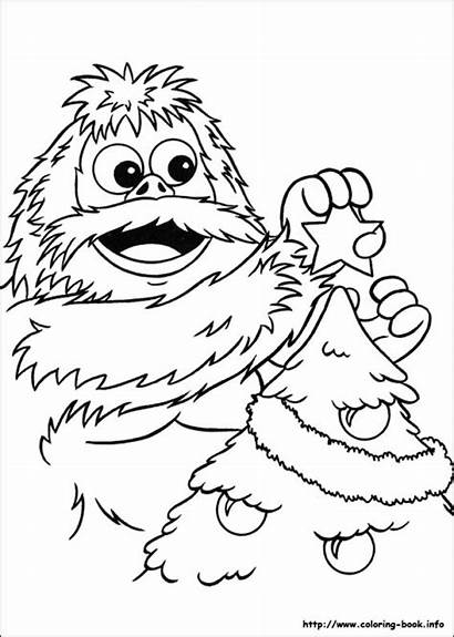 Coloring Rudolph Pages Reindeer Nosed Abominable Snowman