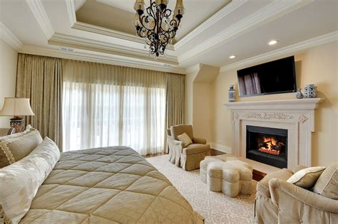 Bedroom Combination Fireplace by Bed Master Bedroom Fireplace New Custom Homes Globex