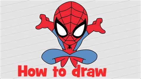 draw spiderman homecoming  beginners youtube