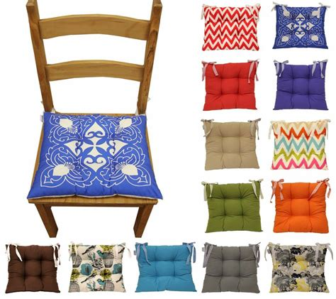 colourful seat pad dining room garden kitchen chair