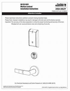 Corbin Russwin In120 Mortise Lock Installation