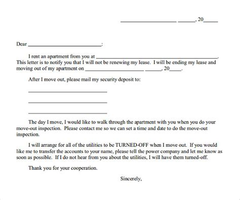early lease termination letters   sample