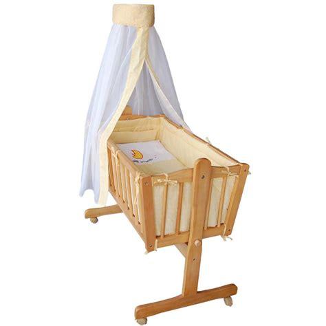 baby wiege holz komplette babywiege bett stubenwagen schaukelwiege wiege gelb neu ovp ebay