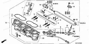 Honda Motorcycle 1999 Oem Parts Diagram For Throttle Body