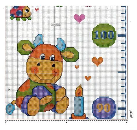 piumoni per bambini metro crescita animali colorati 6 9 punto croce metri