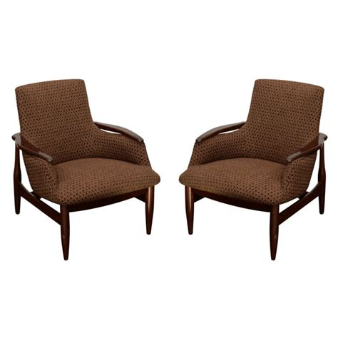 Pair Scandinavian Style Armchairs At 1stdibs