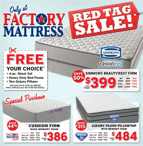 factory mattress sale prices  sealy simmons
