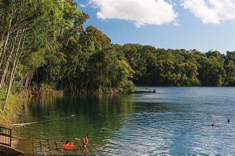 queenslands secret freshwater lakes  swimming holes
