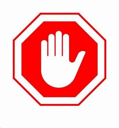Stop Hand Sign Enter Vector Harassment Clip