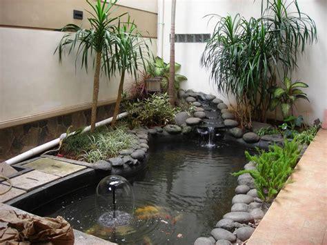 Inspiring Indoor Garden Design With Pond  