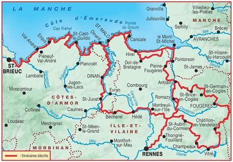 Carte Mont Michel Malo by Topoguide Cote Demeraude Les Chemins Du Mont Michel