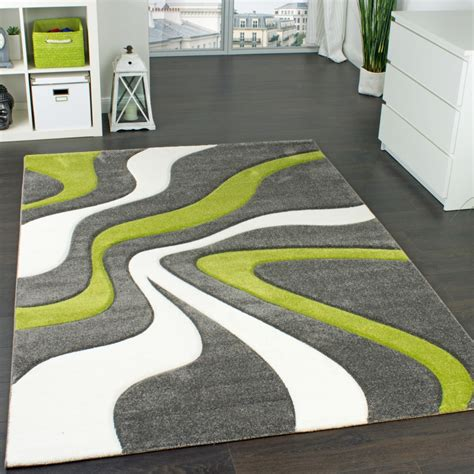 designer teppich mit konturen schnitt modernes wellen muster in grau gr 252 n creme wohn und