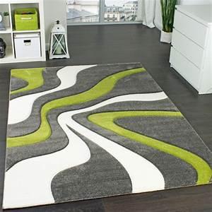 Wohnzimmer Teppiche Günstig : designer teppich mit konturen schnitt modernes wellen muster in grau gr n creme wohn und ~ Whattoseeinmadrid.com Haus und Dekorationen
