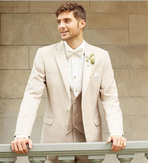Champagne Groom Tuxedo Handsome Notch Lapel Bridegroom Best Man Suit Custom Tailcoat Groomsman