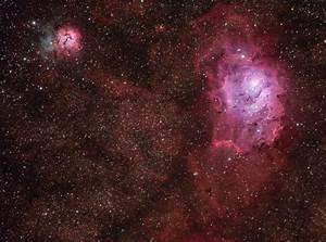 M8 Lagoon Nebula - M20 Trifid Nebula (Hargb)
