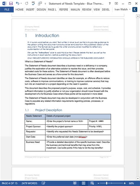statement   template ms word templates forms